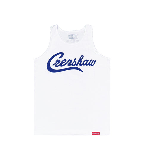Crenshaw Tank Top - White/Royal