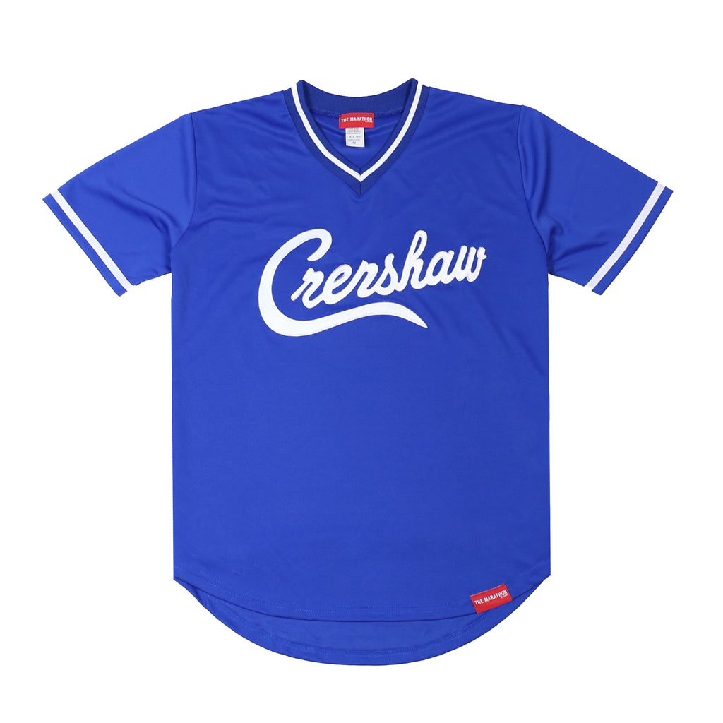 Crenshaw Baseball Warm Up - Royal/White