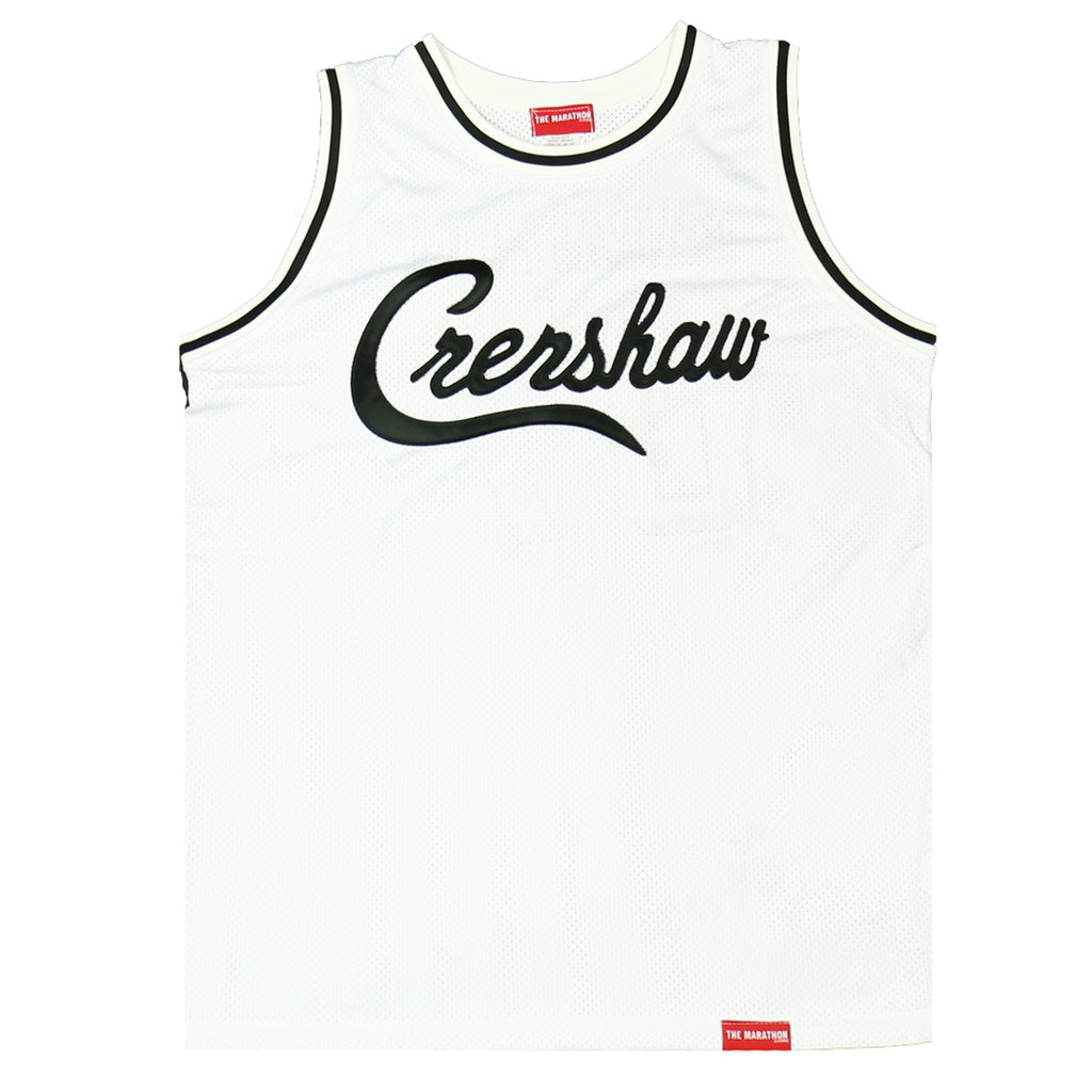 Crenshaw Basketball Jersey - White/Black