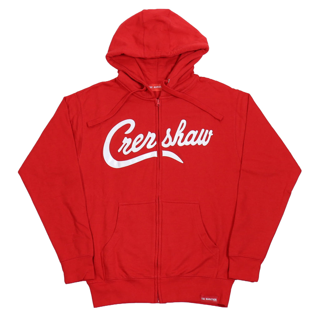 Crenshaw Zip-Up - Red/White
