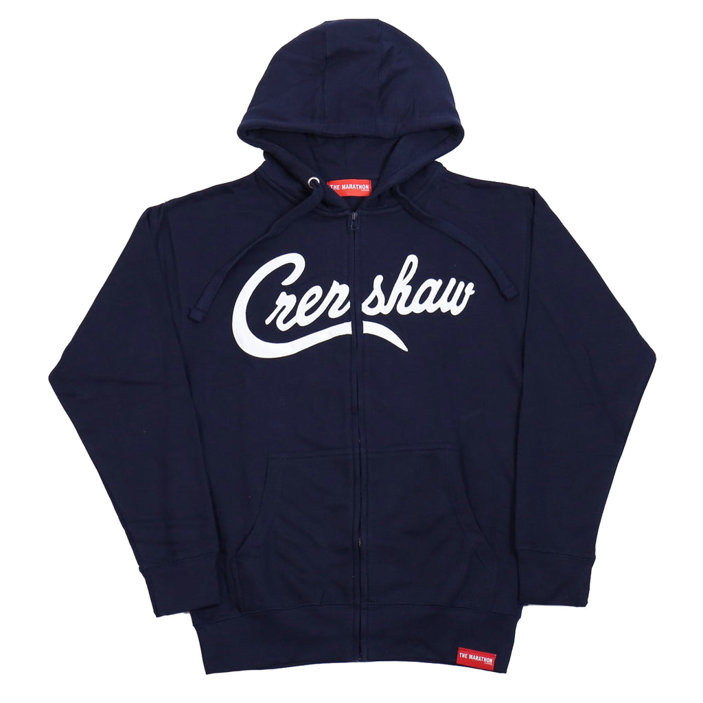 Crenshaw Zip-Up - Navy/White