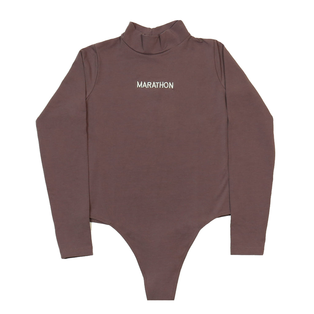 Marathon One Piece Turtleneck - Eggplant
