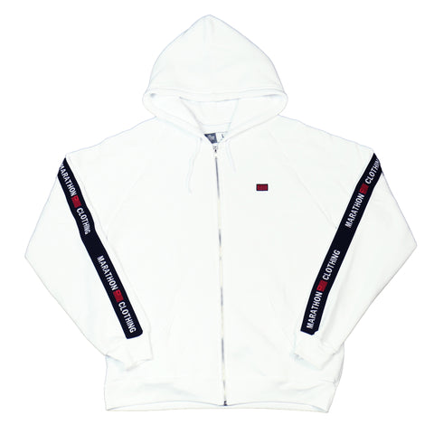 TMC Elastic Zip Up - White/Black