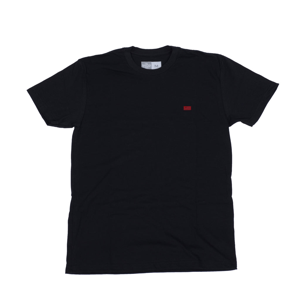 TMC Classic T-Shirt - Embroidered Flag - Black