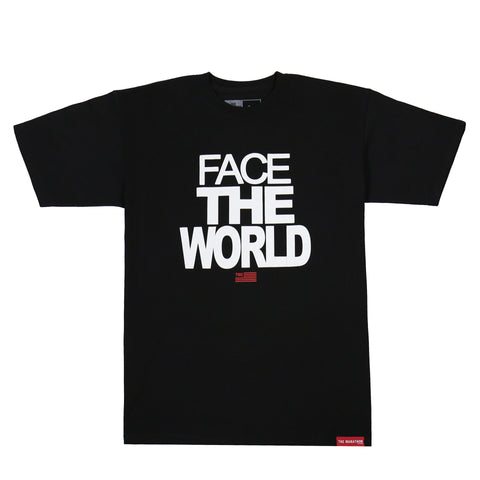 Face The World T-Shirt - Black