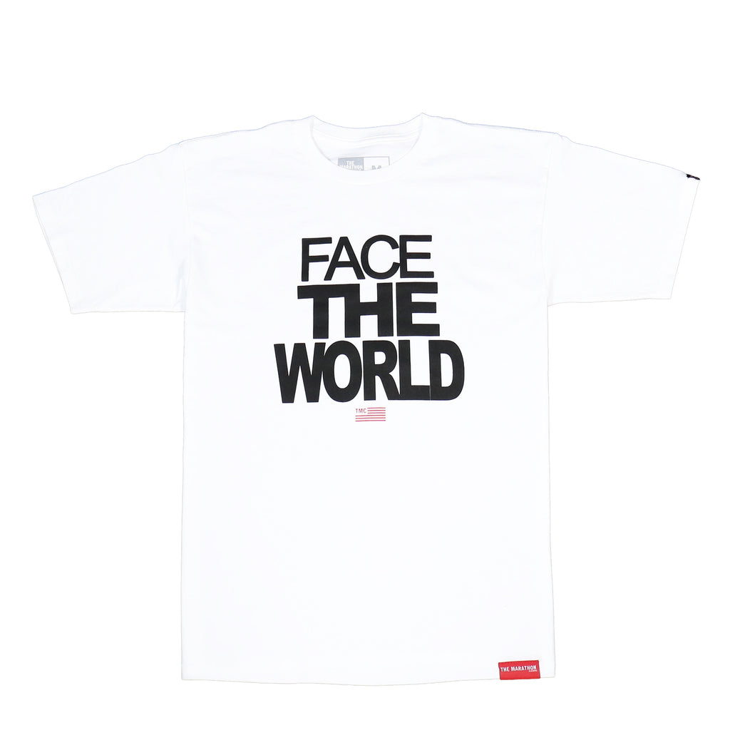 Face The World T-Shirt - White