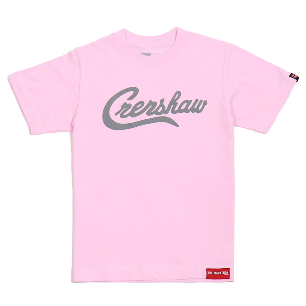 Crenshaw Kid's T-Shirt - Pink/Gray