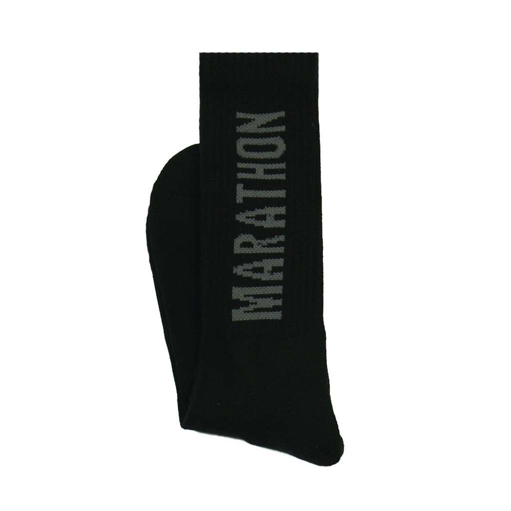 Marathon Socks - Black/Grey