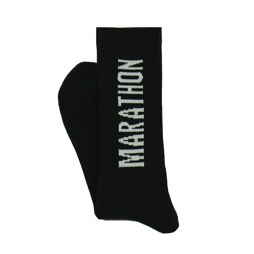 Marathon Socks - Black/White