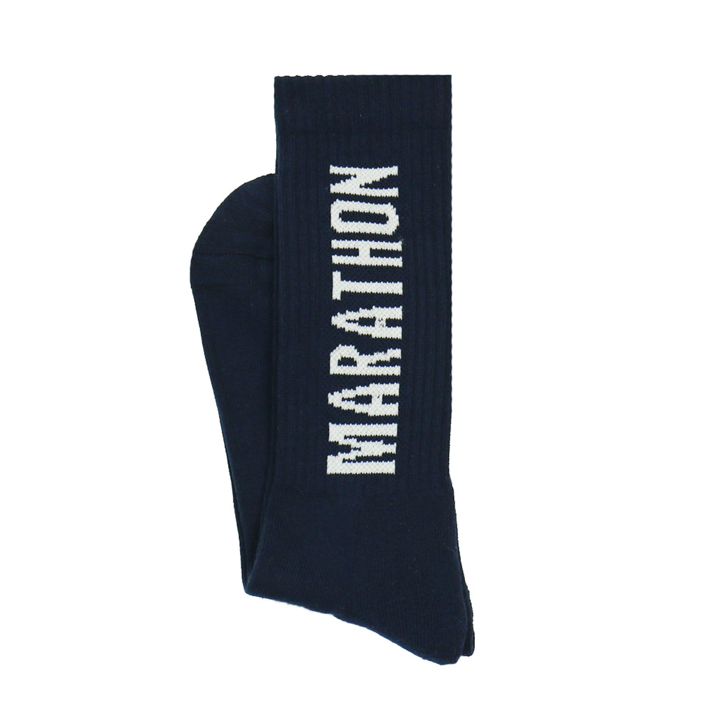 Marathon Socks - Navy/White
