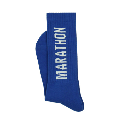 Marathon Socks - Royal/White