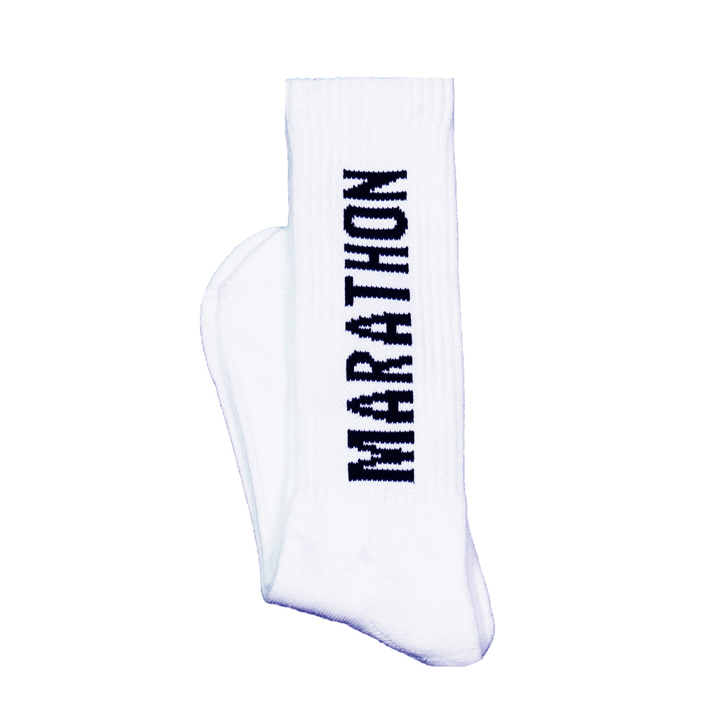 Marathon Socks - White/Black