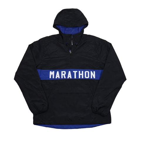 Marathon Anorak Jacket - Black/Royal