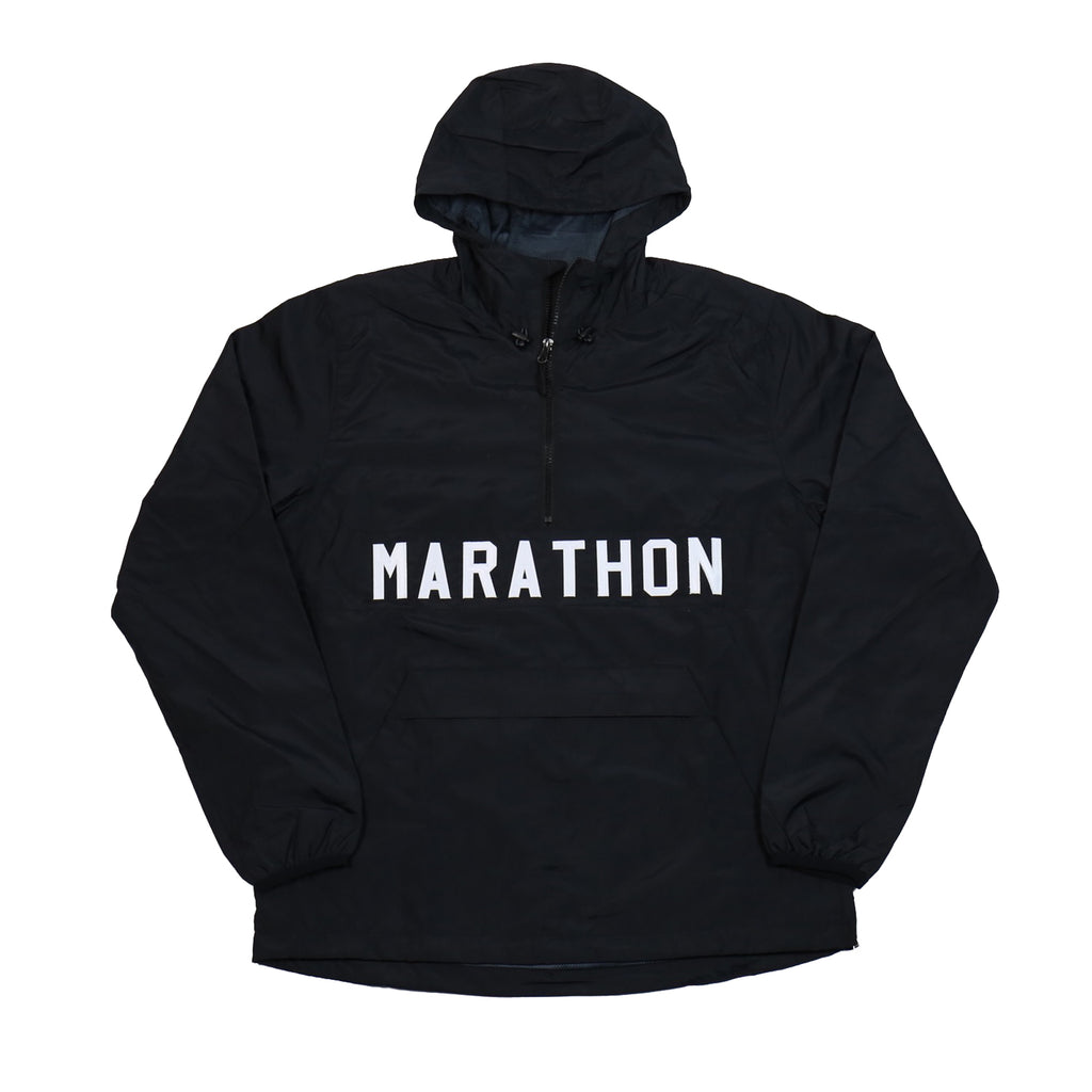 Marathon Anorak Jacket - Black/White