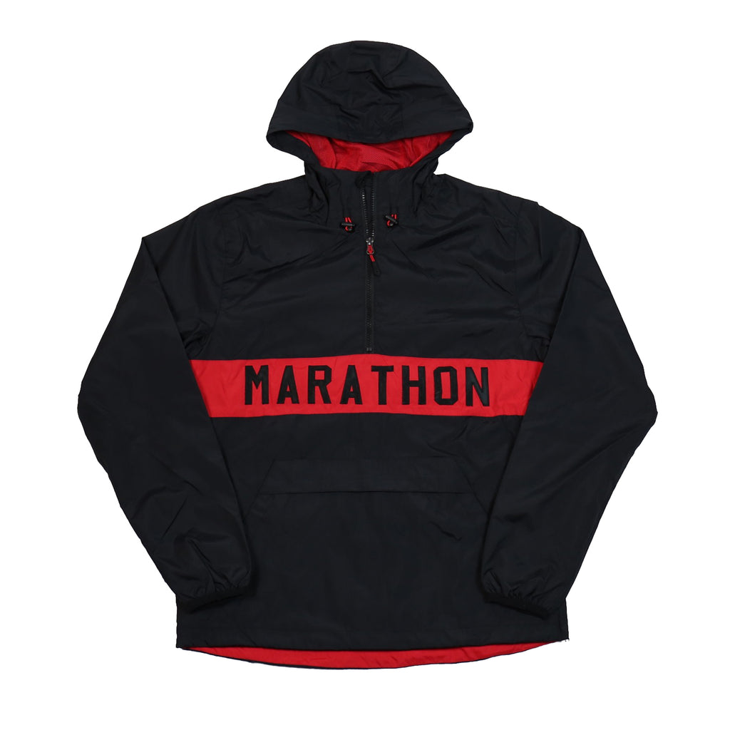Marathon Anorak Jacket - Black/Red