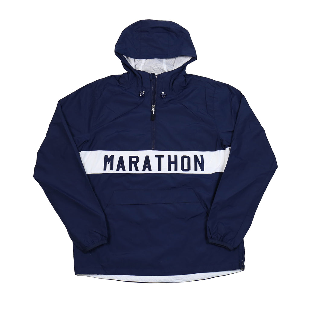 Marathon Anorak Jacket - Navy/White