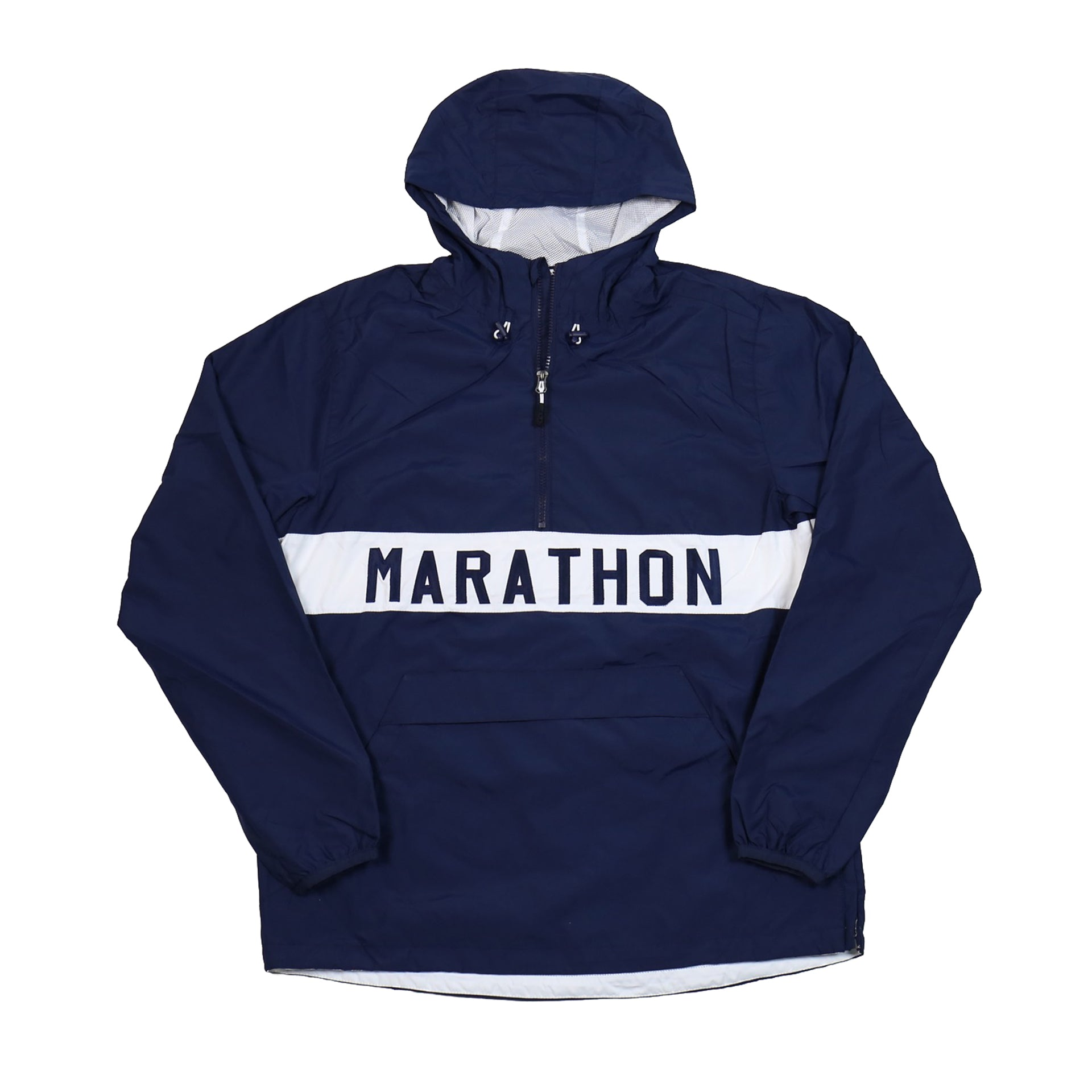 ede82dcf Marathon Anorak Jacket - Navy/White – The Marathon Clothing