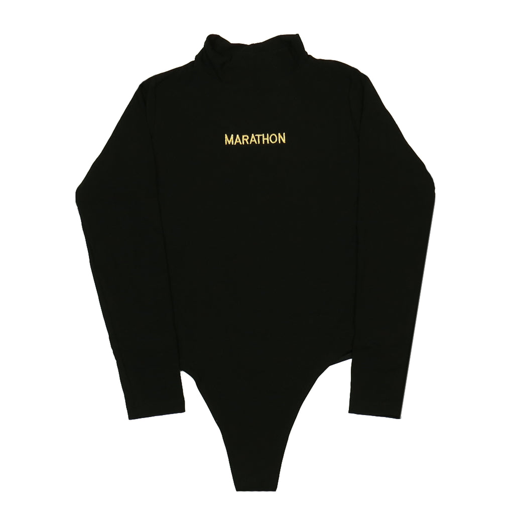 Marathon One Piece Turtleneck - Black