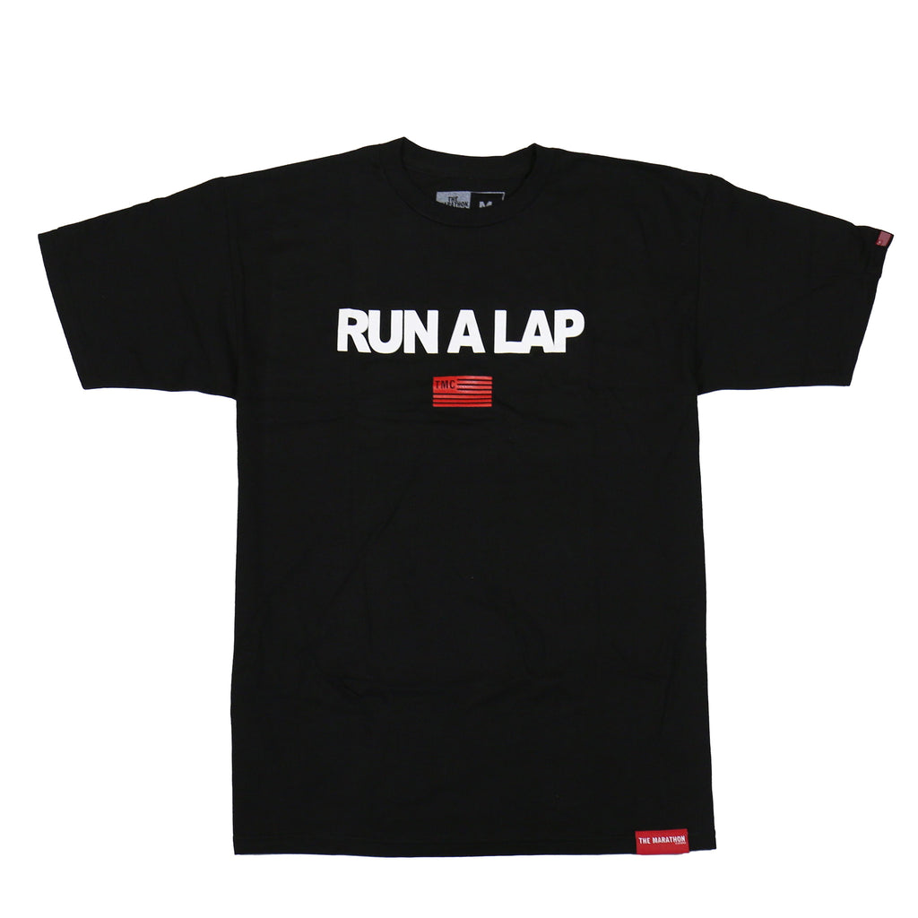 Run A Lap T-Shirt - Black