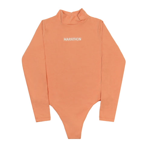 Marathon One Piece Turtleneck - Salmon