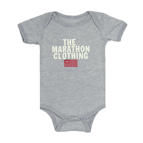Stacked Logo Onesie - Grey