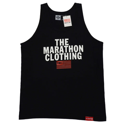 TMC Stacked Logo Tank Top - Black