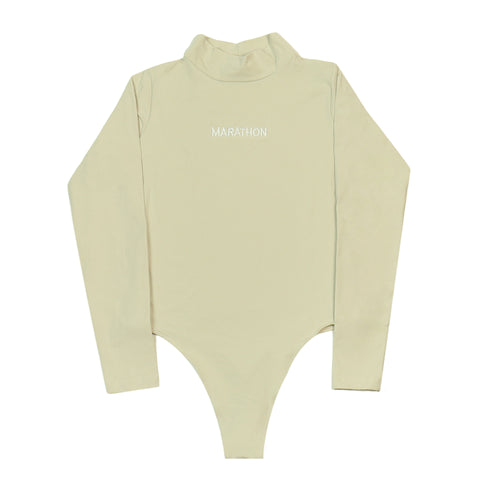Marathon One Piece Turtleneck - Tan