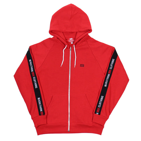TMC Elastic Band Zip Up - Red/Black