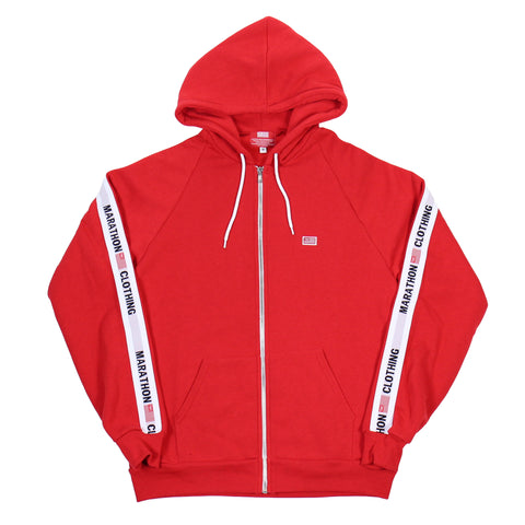 TMC Elastic Band Zip Up - Red/White