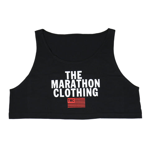 TMC Stacked Logo Crop Tank - Black