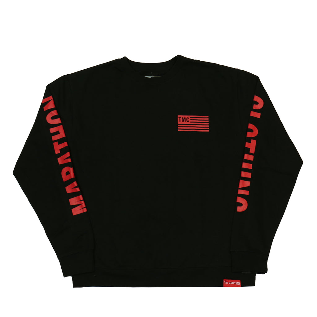 c21466863d TMC Flag Sweatshirt - Black/Red [Printed Sleeves]