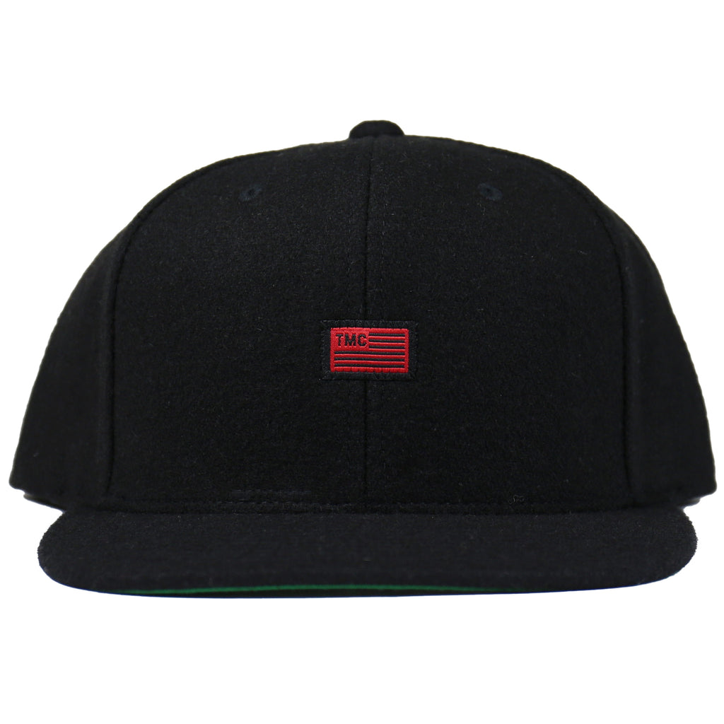TMC Flag Snapback - Wool Black