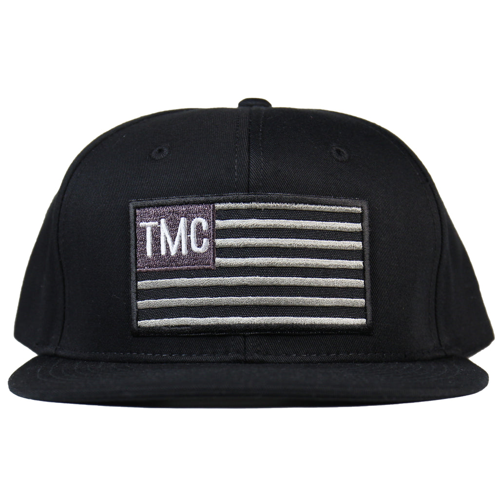 TMC Flag Snapback - Black/White