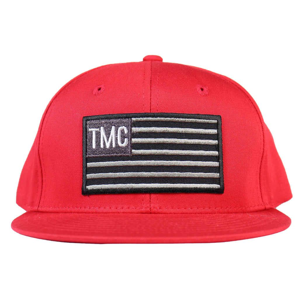 TMC Flag Snapback - Red/Black