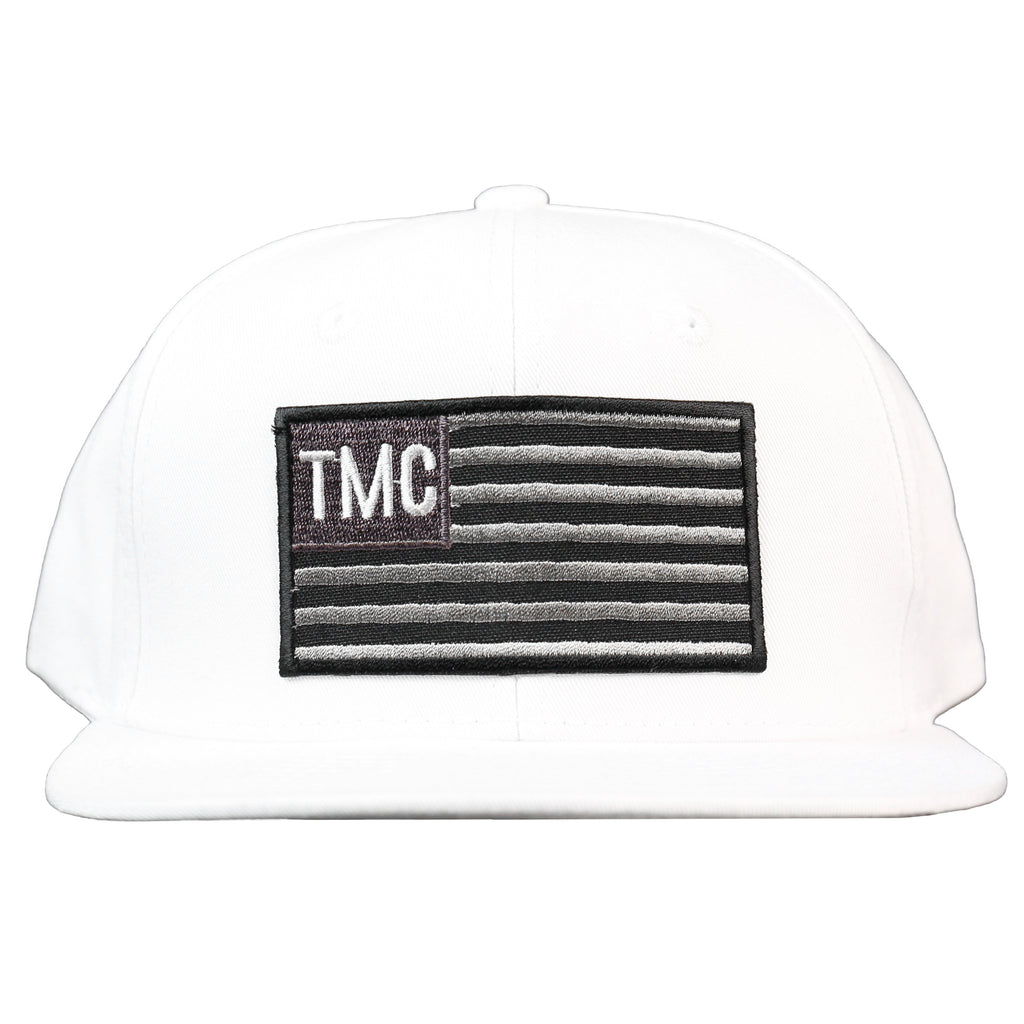 TMC Flag Snapback - White/Black