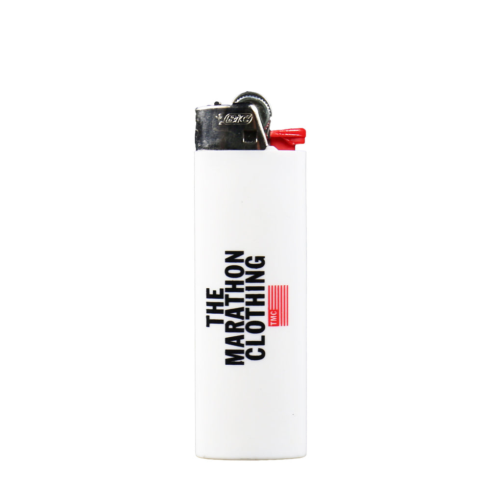 TMC Stacked Logo Lighter - White