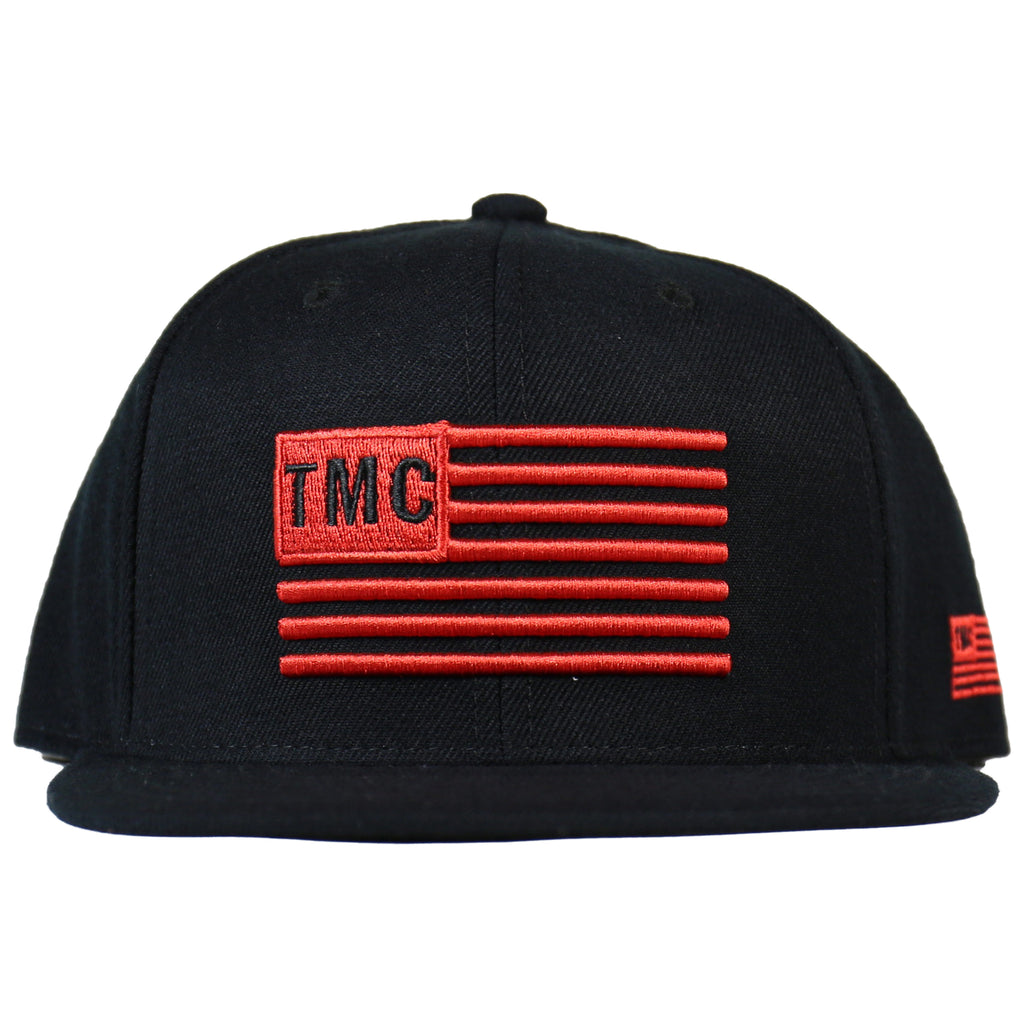 TMC 3D Red Flag Snapback - Black