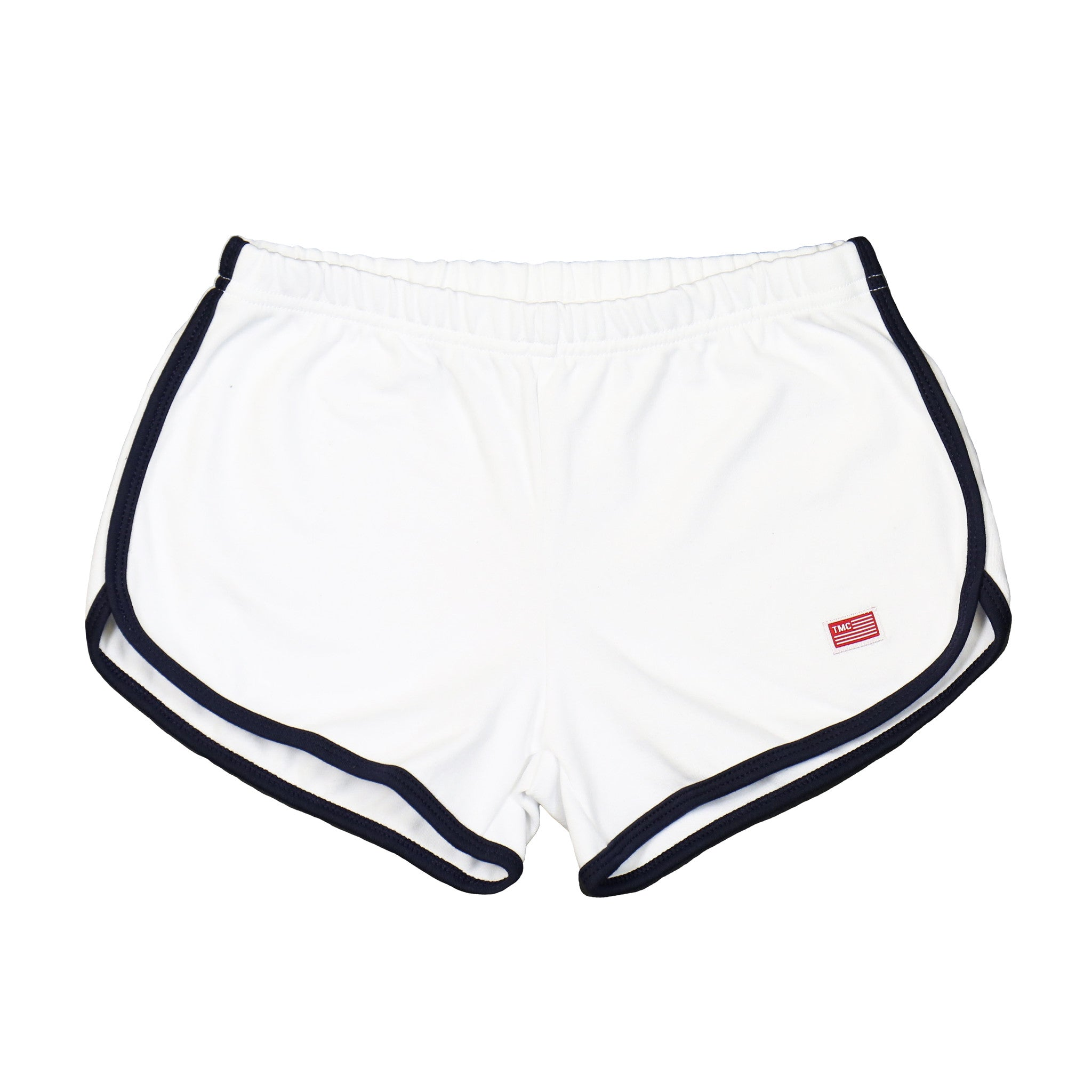 5f403b1592 TMC Shorts - White/Navy [Women] – The Marathon Clothing