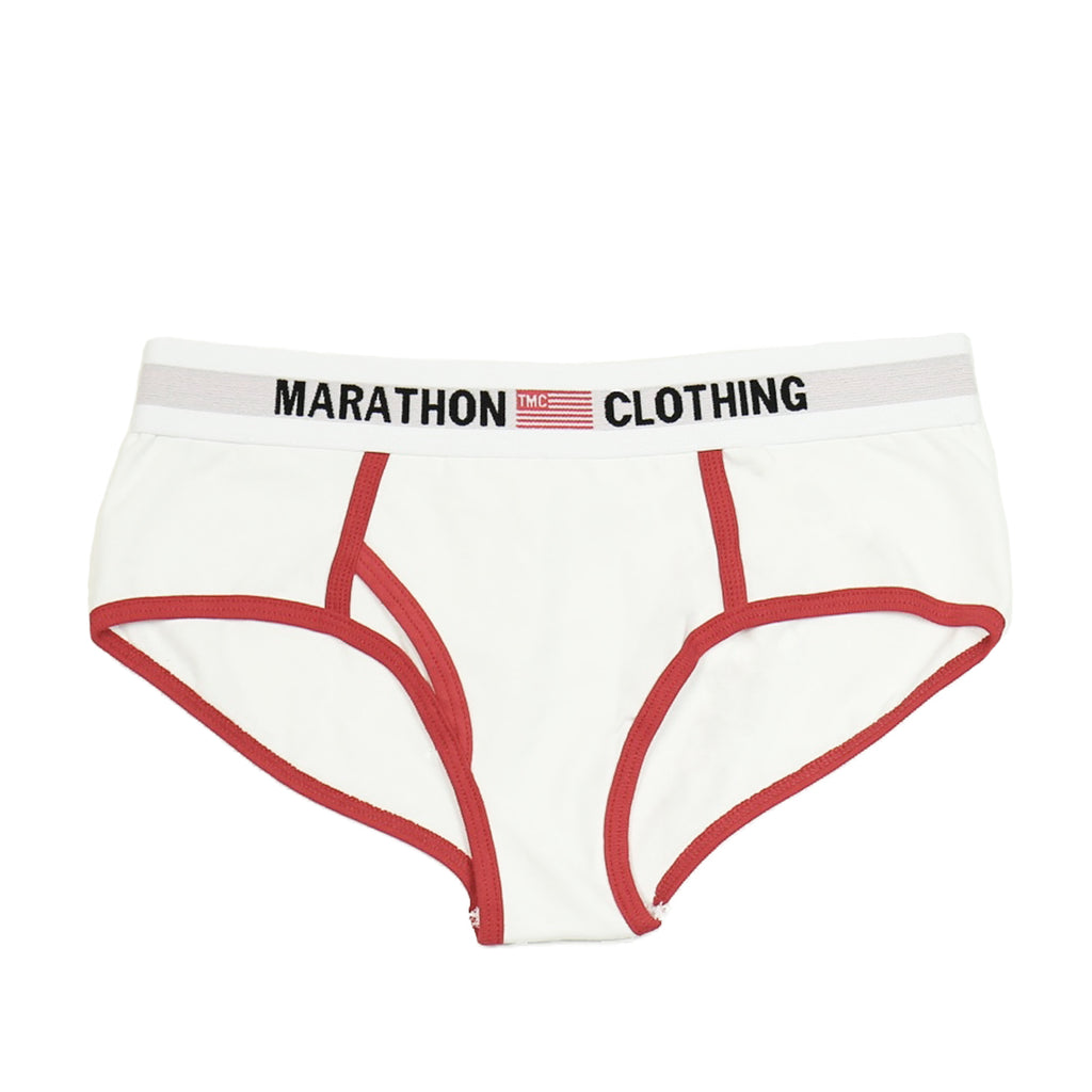 TMC Elastic Band Underwear - White/Red