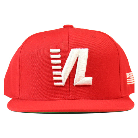 Victory Lap Snapback - Red/White