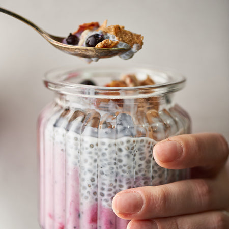 BLACKCURRANT CHIA SEEDS PUDDING