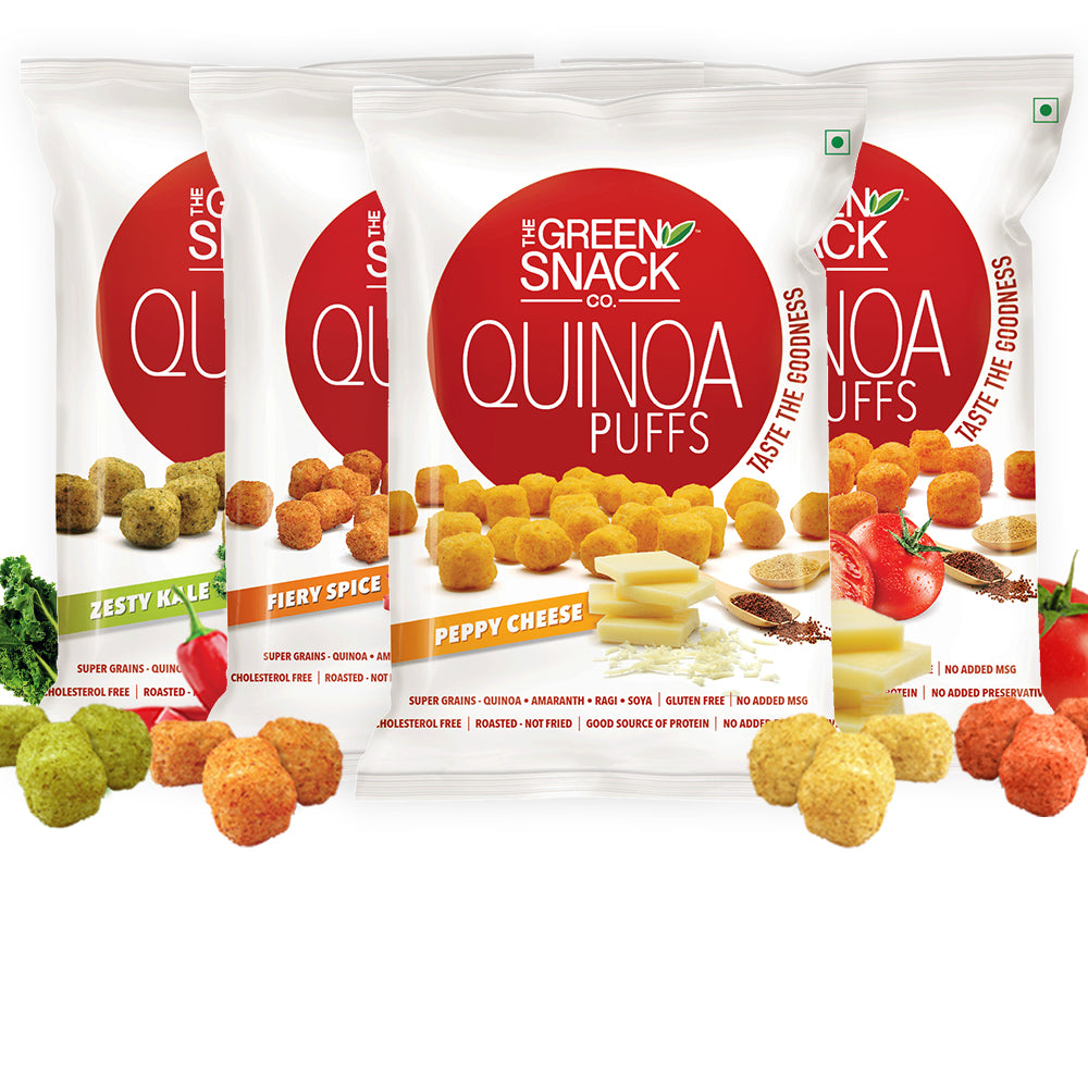 Quinoa Puff Assorted (Pack Of 4 & 8) (Up to 15% OFF on Pack of 8)