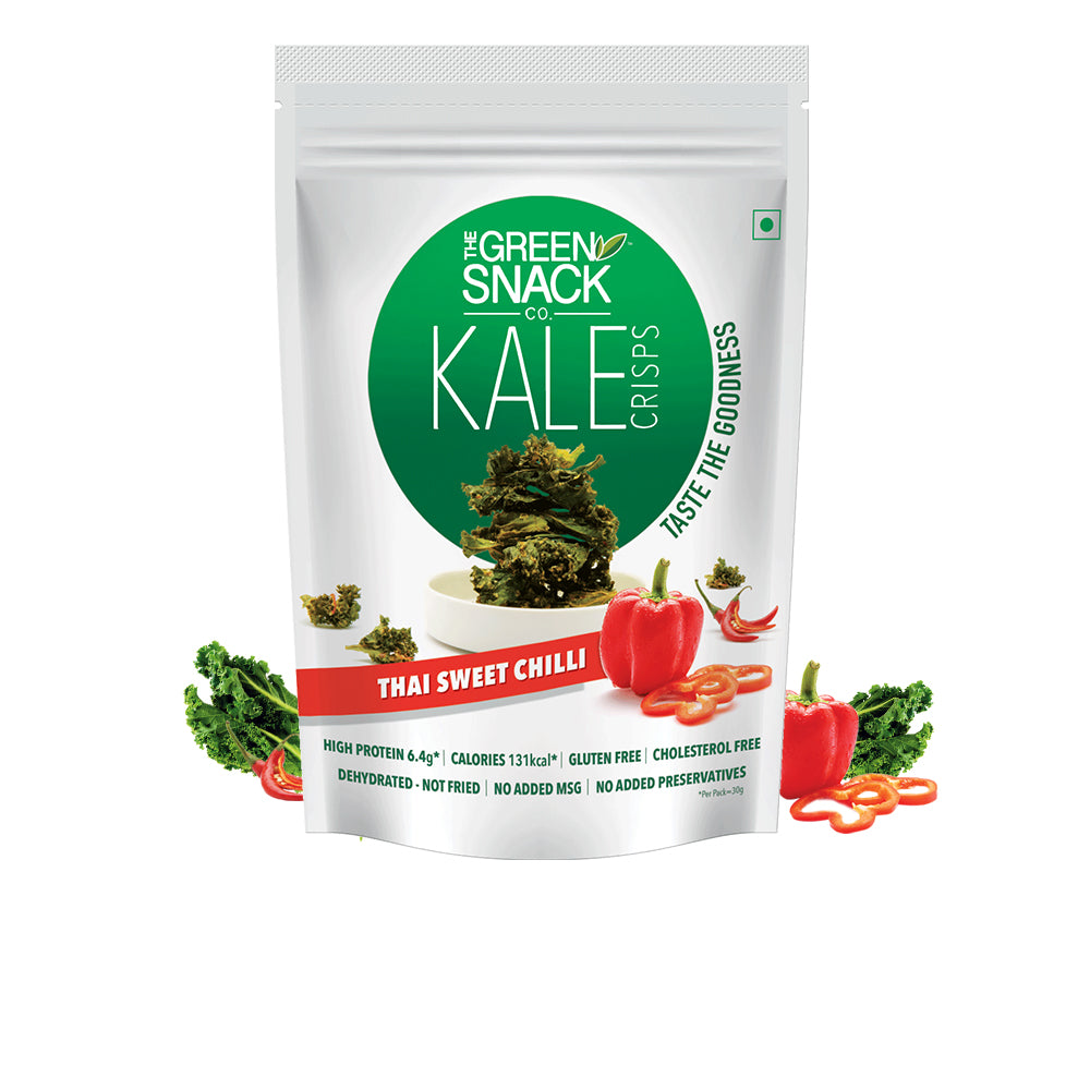 Kale Crisps - Thai Sweet Chilli (30gm) (Up to 15% OFF on Pack of 3)