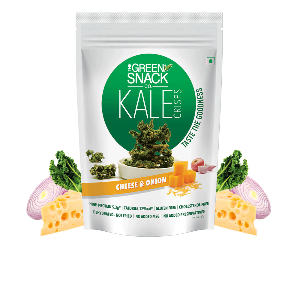 Kale Crisps - Cheese & Onion (30gm)