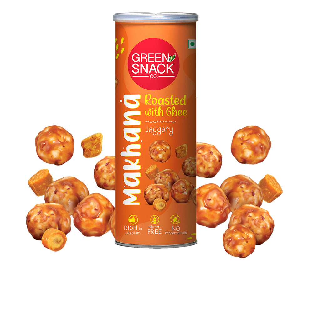 Ghee Roasted Makhana - Jaggery (120gm) (Up to 15% OFF on Pack of 3)