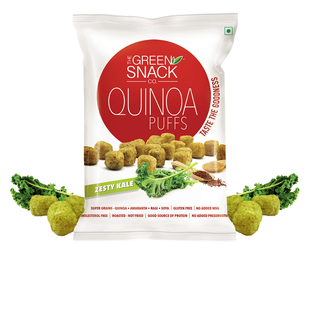 Quinoa Puff - Zesty Kale (50gm) (Up to 15% OFF on Pack of 8)