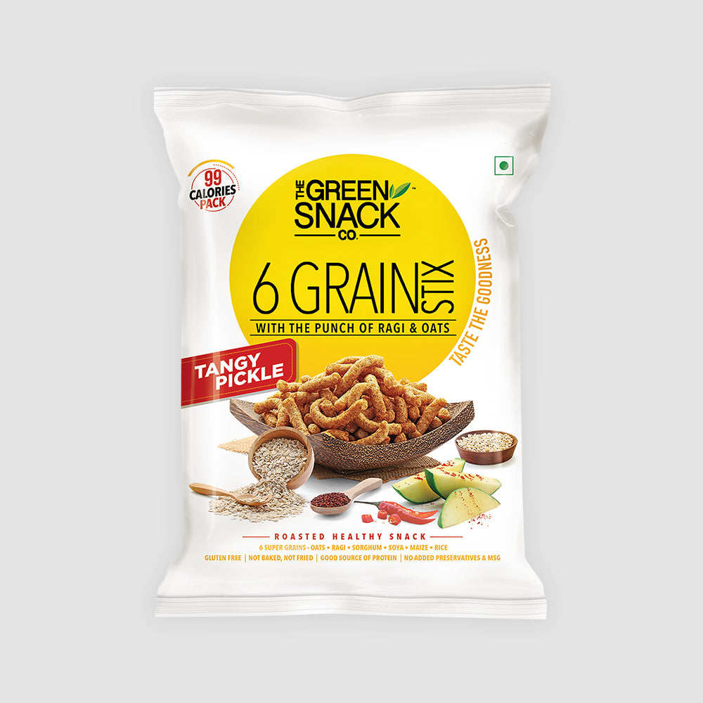 Six Grain Stix - Tangy Pickle (25gm)