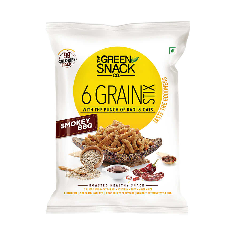 Six Grain Stix - Smokey BBQ (25gm) (Up to 15% OFF on Pack of 6)