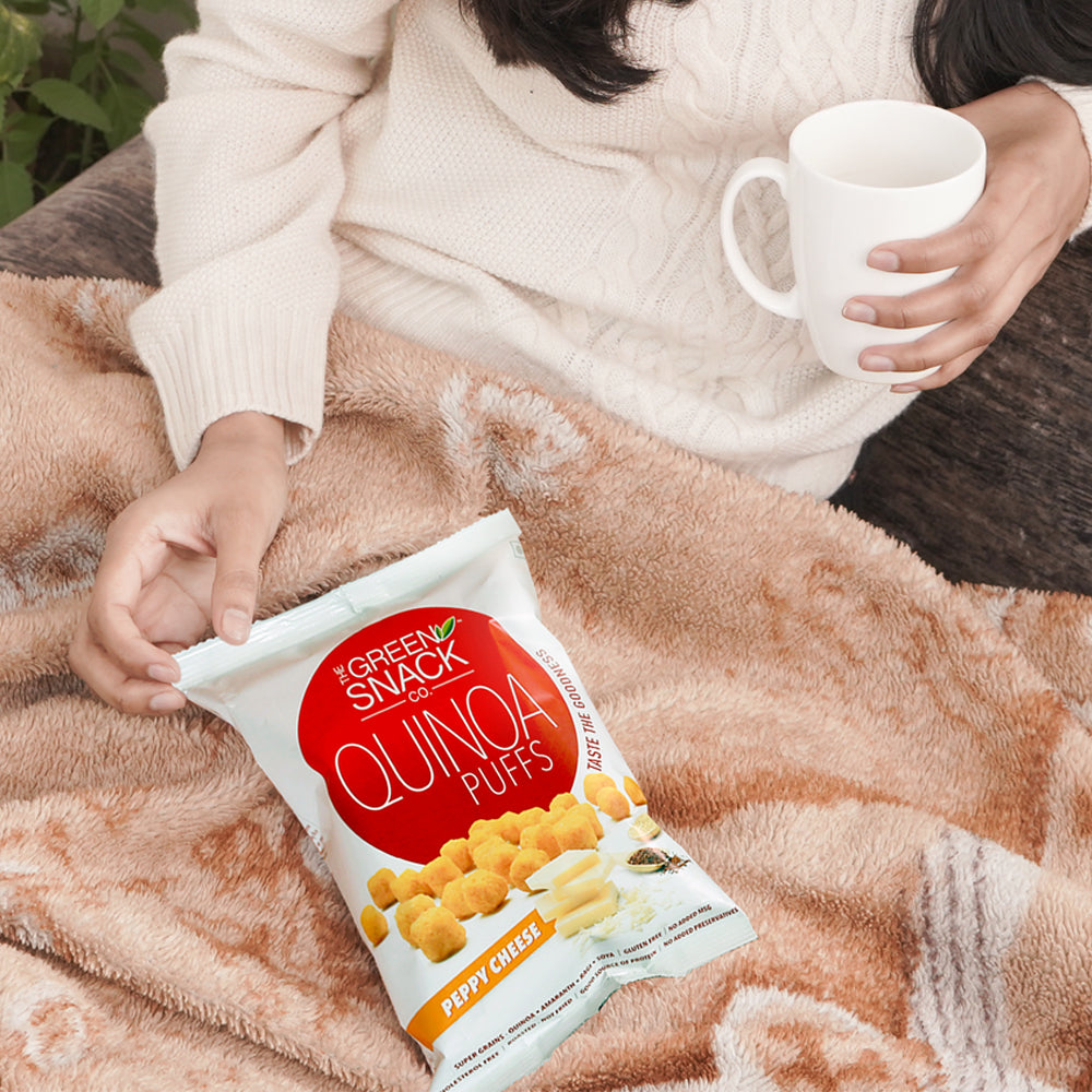 Quinoa Puff - Peppy Cheese (50gm) (Up to 15% OFF on Pack of 8)