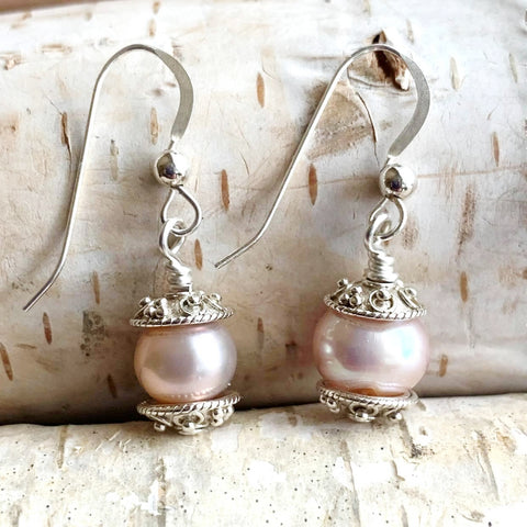 Blush Pearl Drop Earrings